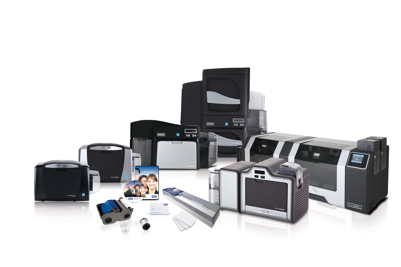 HID Fargo Kartendrucker Bundle mit Farbband, Kartensoftware, Karten und Kamera