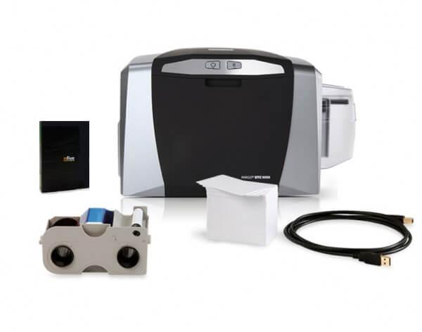 Ausweissystem HID Fargo DTC1000 Bundle Farbban, Webcam, Reinigungsset
