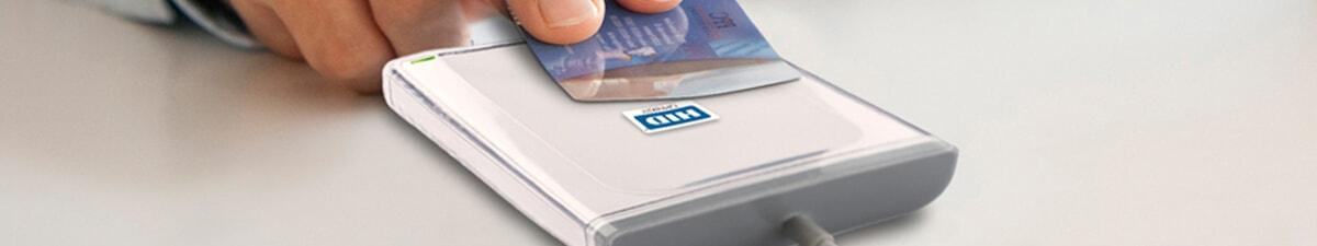 Kartenlesegeräte HID Omnikey, Kartenlesegerät, Reader mit Chipkarte