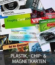 Plastikkarten, Chipkarten und Magnetkarten