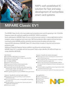 Datenblatt Vorschau Mifare Classic EV1