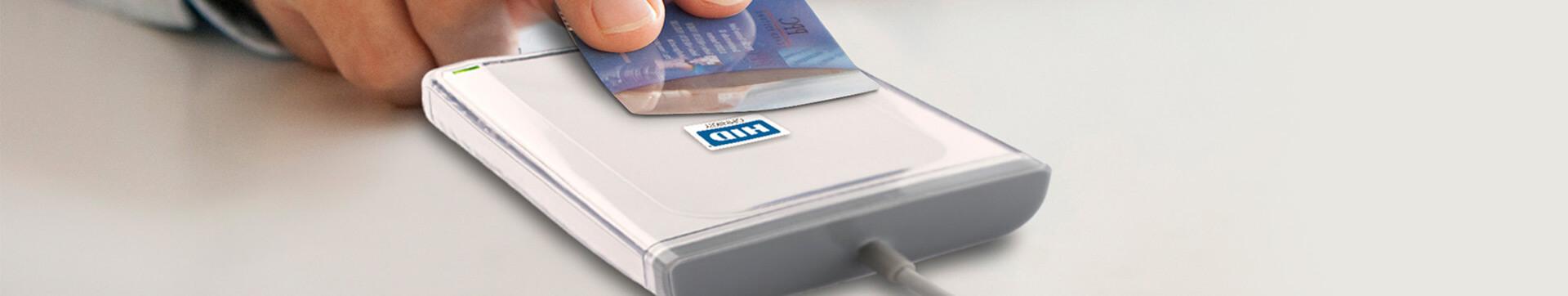 Kartenlesegeräte HID Omnikey, Kartenlesegerät Reader mit Chipkarte