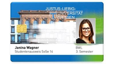 Studentenausweis der Uni Giessen