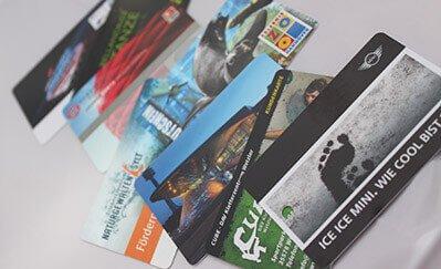 Plastikkarten, Bonuskarten, Tickets und Chipkarten vom Kartendruck Experten