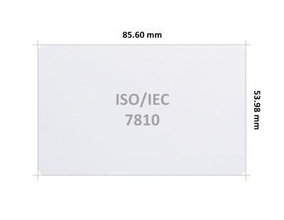 Plastikkarte ISO 7810