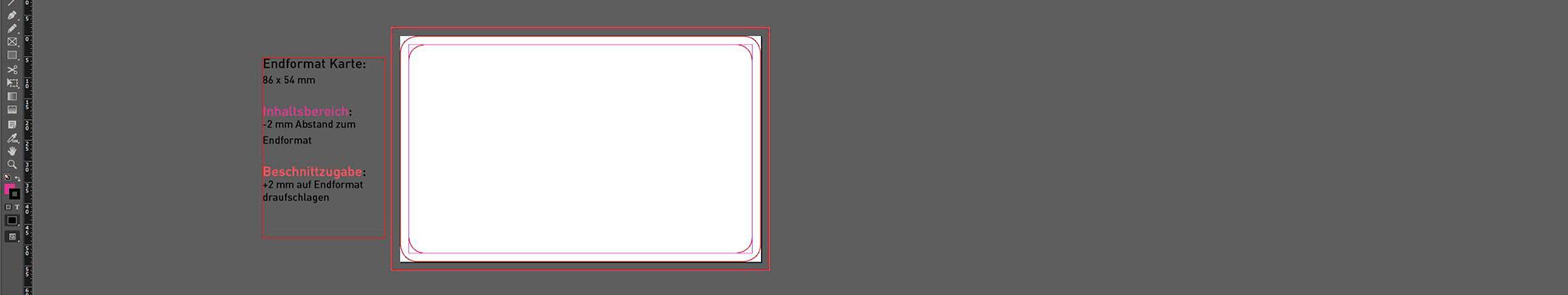 Druckvorlagen für Plastikkarten