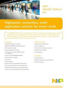 Datenblatt NXP MIFARE DESFire EV1